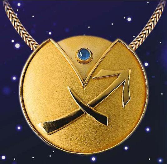 """Zodiac Necklace """"Sagittarius"""" (23.11-21.12) With Lucky Stone Chalcedony"""
