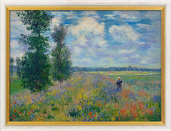 """Painting """"Les Coquelicots (environs de Argenteuil) - The Poppy Field at Argenteuil"""", Framed"""