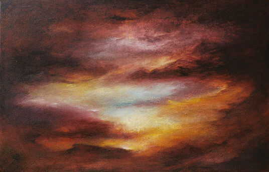 "Susann Ohlendorf: Bild ""Nightfall"" (2008) (Original / Unikat), ungerahmt"