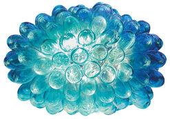 "LED-Raumobjekt ""Trauben"" aus recyceltem Glas"