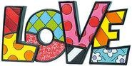 """Schriftzug-Skulptur """"LOVE"""", Kunstguss"""
