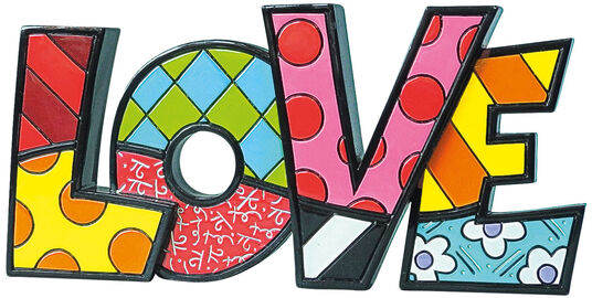 "Romero Britto: Schriftzug-Skulptur ""LOVE"", Kunstguss"