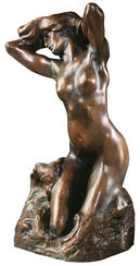 "Skulptur ""Baigneuse"" (1880), Version in Kunstbronze"