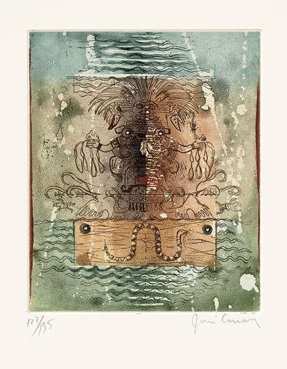 """René Carcan: Bild """"L' Eau"""" (1975), ungerahmt"""