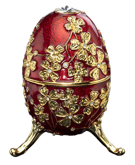 "Musical jewelry egg ""Amazing Grace"" (red)"