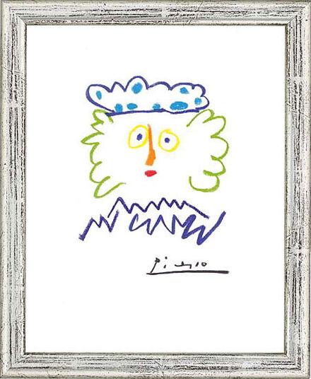 "Pablo Picasso: Bild ""König Kaspar"", gerahmt"