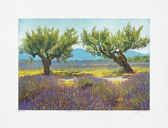 "Günther Hermann: Picture ""Apricotes and Lavender"""