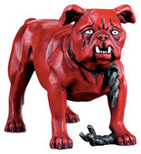 Simplicissimus Bulldog, art casting hand-painted