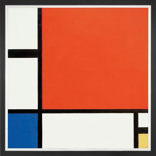 """Piet Mondrian: Bild """"Komposition in Rot, Blau und Gelb"""" (1930), gerahmt"""