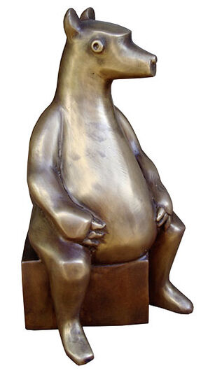 "Gerhard Hofmann: Sculpture ""Little Bear"" (2008), bronze"