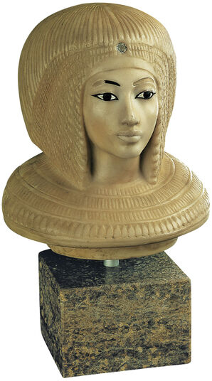 "Replica ""Canopic lid of queen Kiya"", Artificial Casting"