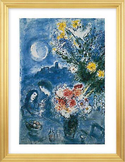 """Marc Chagall: Bild """"Abenderinnerung"""" (1959), gerahmt"""