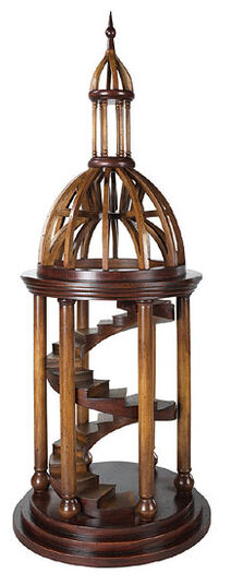 """Wooden architecture model """"The belfry stairs of St. Peter's Basilica"""""""
