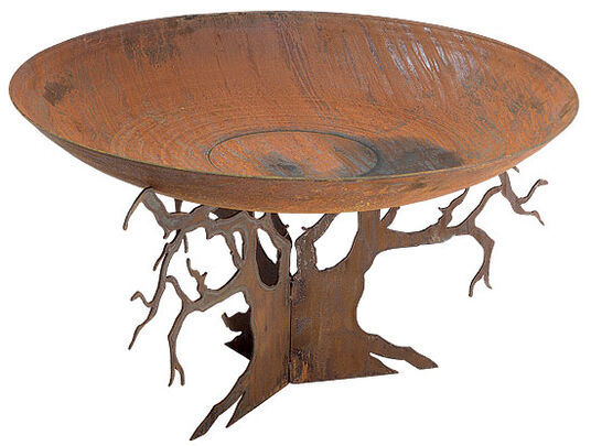 Fire pit with tree stand