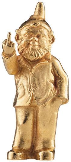 """Ottmar Hörl: Sculpture """"Sponti Dwarf"""", Version Gilded"""