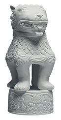 """Tafelschmuck - Porzellanfigur """"Löwenhund"""""""