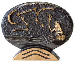 """Sternzeichen-Skulptur """"Wassermann"""" (21.1.-19.2.), Bronze"""