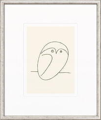 "Painting ""Le Hibou"", Framed"