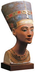 Bust of the Queen Nefertiti (original size), polymer cast, hand-painted