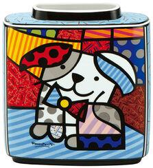"""Porcelain vase """"Dog ginger"""""""