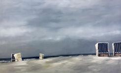 "Bild ""Strandkörbe # 2"" (2017) (Unikat)"