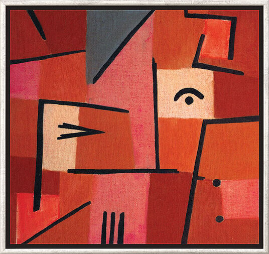 "Paul Klee: Painting ""View from Red"" (1937), Framed"