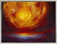 "Bild ""New Rising Sun"", gerahmt"