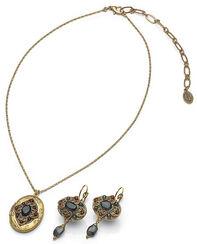 "Jewelry set ""Florentine Indigo"" (with photo locket)"