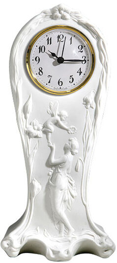 Porcelain-youth carriage clock