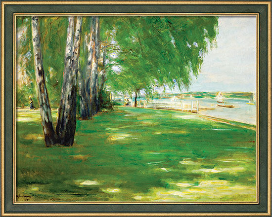 """Painting """"Artist's Garden on Wannsee"""" (1918) in a frame"""