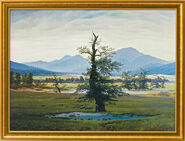 "Picture ""The Lonely Tree"" (1821) in gallery frame"