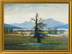 """Picture """"The Lonely Tree"""" (1821) in gallery frame"""
