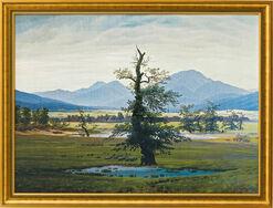 """Bild """"Der einsame Baum"""" (1821), gerahmt"""