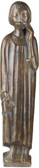 """Ernst Barlach: Skulptur """"Der Sinnende II"""" (1934), Reduktion in Bronze"""