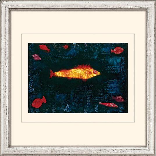 """Paul Klee: Bild """"Der goldene Fisch"""" (1925), gerahmt"""