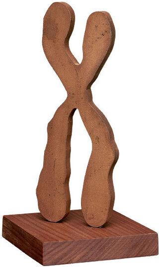 Joachim Röderer: Sculpture 'Chromium Man' (2013), steel