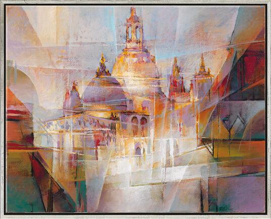 "Janusz Duda: Bild ""Dresden"" (2002) (Original / Unikat), gerahmt"