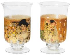 2 Windlichter / Vasen mit Künstlermotiven im Set