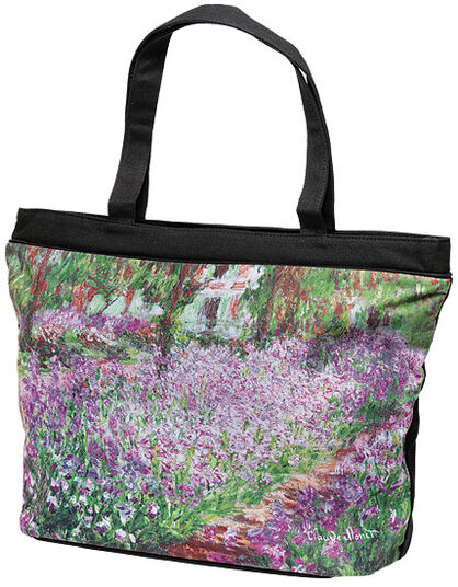 "Claude Monet: Tasche ""Irisbeet in Monets Garten"""