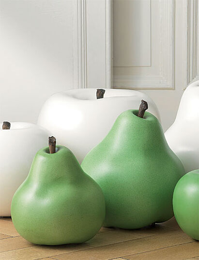 "Ceramic Object ""Pears green"", (large version - figure)"