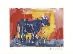 """Bild """"Die blaue Kuh im Abendlicht"""" (2016)"""