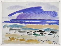 """Bild """"Farbiger Strand"""" (1983) (Unikat)"""