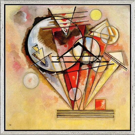 """Wassily Kandinsky: Bild """"Auf Spitzen"""" (1928), gerahmt"""