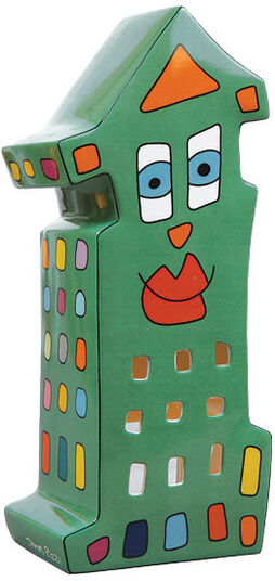 James Rizzi: Lantern 'Night Light', porcelain