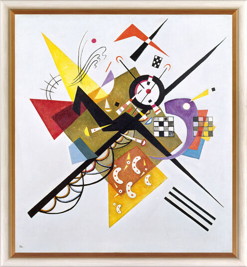"""Wassily Kandinsky: Bild """"Auf Weiß II"""" (1923), gerahmt"""