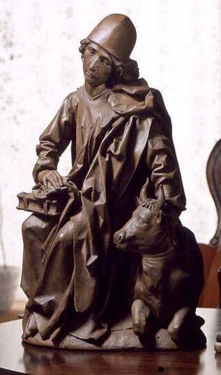 """Tilman Riemenschneider: Sculpture """"Evangelist Luke"""", Artificial Casting"""