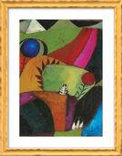 """Bild """"Drei weiße Glockenblumen"""" (1920), gerahmt"""