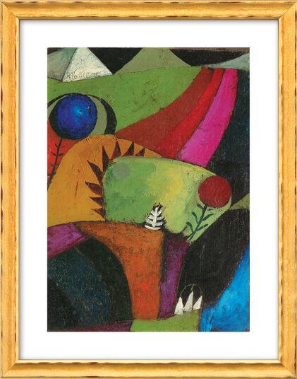 """Paul Klee: Bild """"Drei weiße Glockenblumen"""" (1920), gerahmt"""