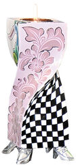 "Kerzenleuchter ""Ronda"" (Größe M, Höhe 25 cm), handbemalt"
