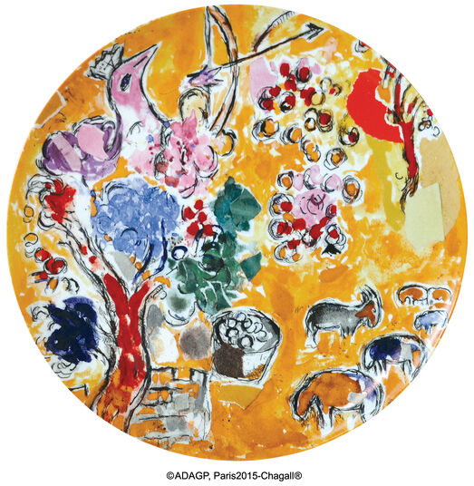 "Marc Chagall: Les Vitraux d'Hadassah von Bernardaud - Porzellanteller ""Josef"""